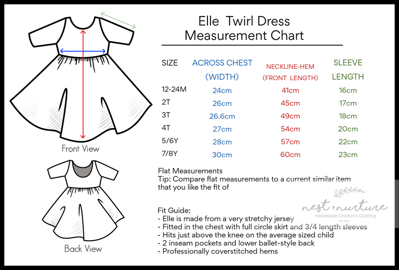 Elle Twirl Dress [Flutter Sleeve] in 'Succulent' - Ready To Ship