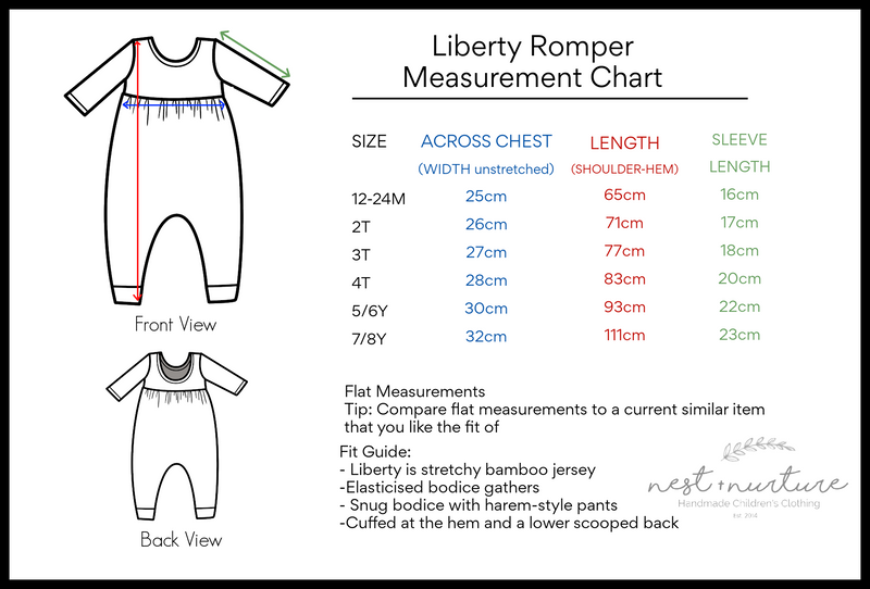 Liberty Romper  [Flutter Sleeve] in 'Sunset' - Ready To Ship