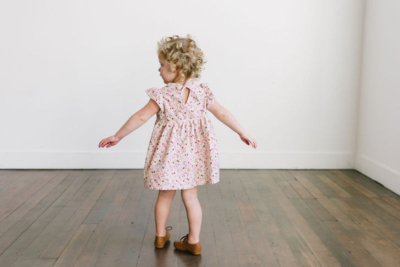 Poppy Tunic with  Pockets in 'Parakeet Park {Pink} ' - Ready To Ship