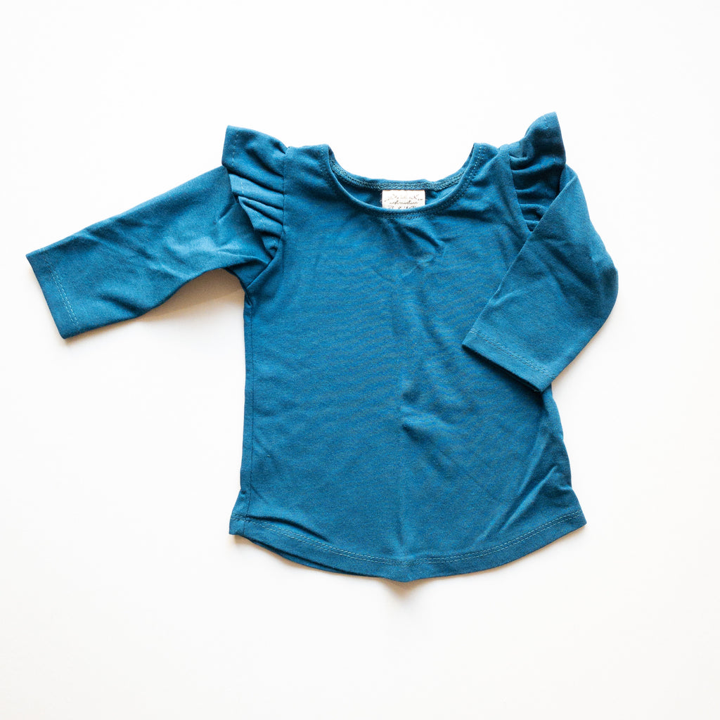 Millie Flutter Shirt in 'Cerulean' - Ready To Ship