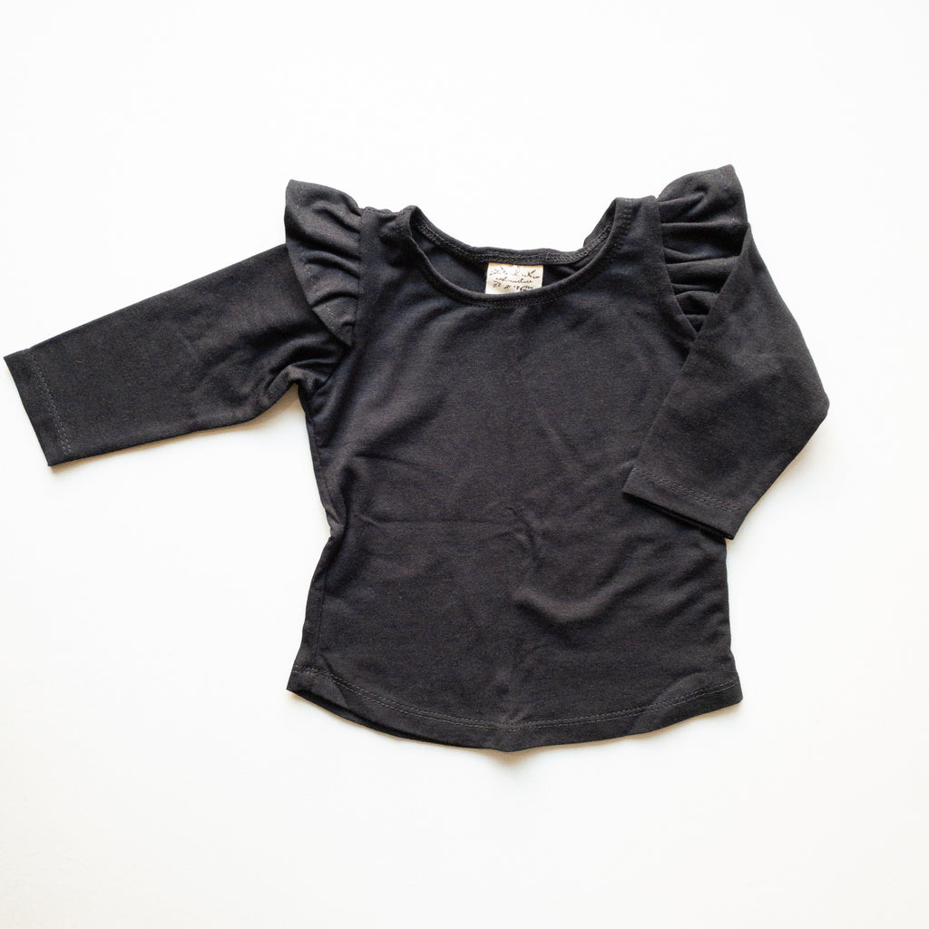 Millie Flutter Shirt in 'Black Magic' - Ready To Ship