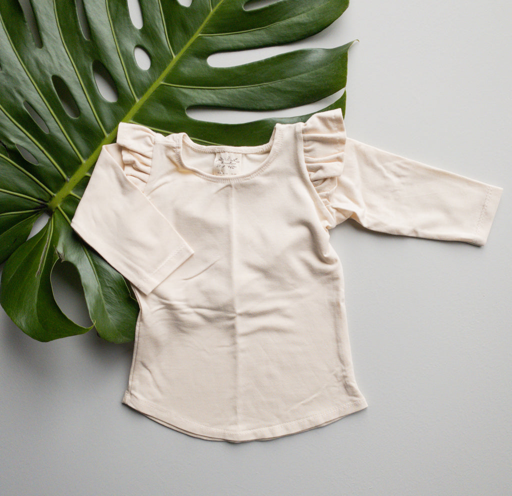 Millie Flutter Shirt in 'Natural' - Ready To Ship