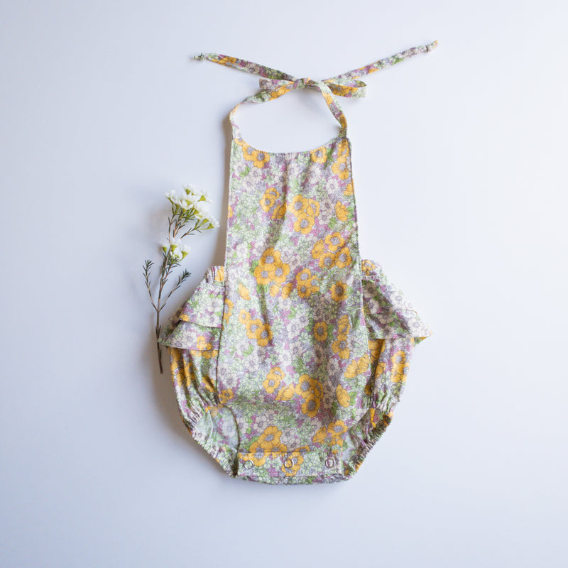 "Heidi Pinafore in Organic Linen/Cotton in ""Sand""- Ready To Ship"