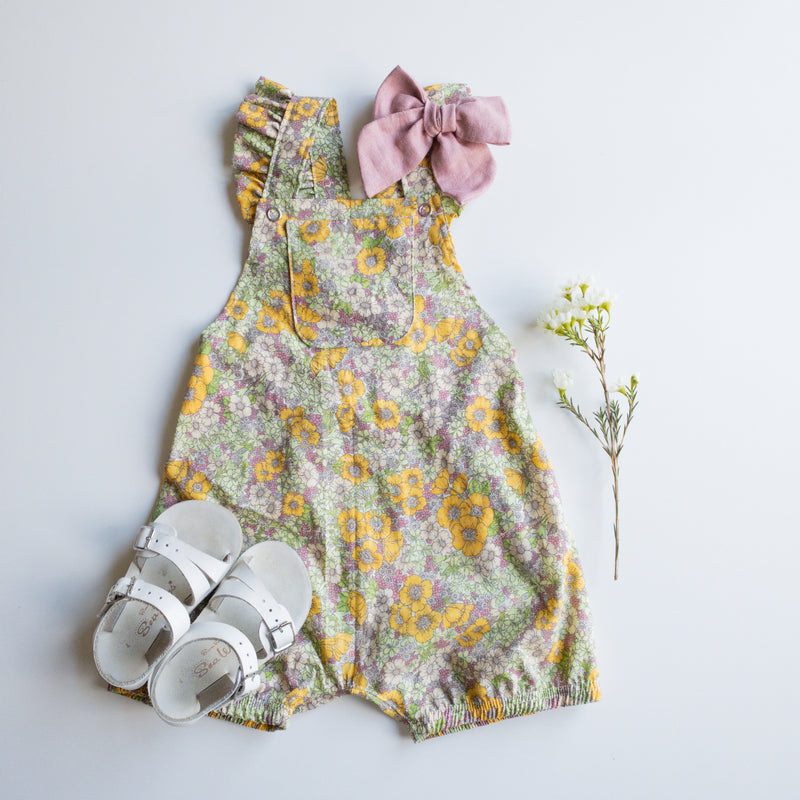 Gemma Ruffled Shorties in 'Lakehouse Garden' - Ready To Ship