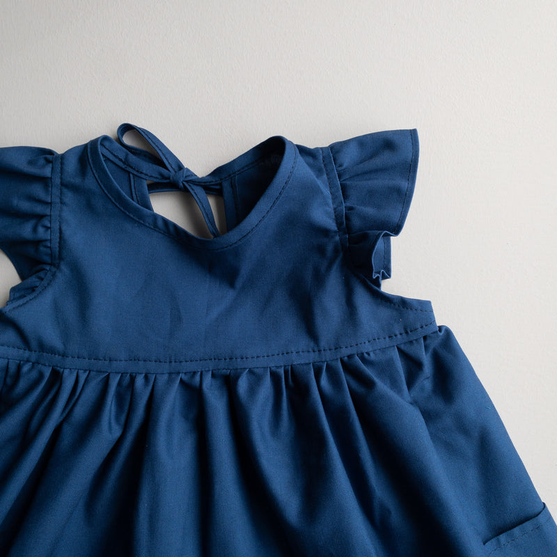 Poppy Tunic with  Pockets in 'Prussian Blue' - Ready To Ship