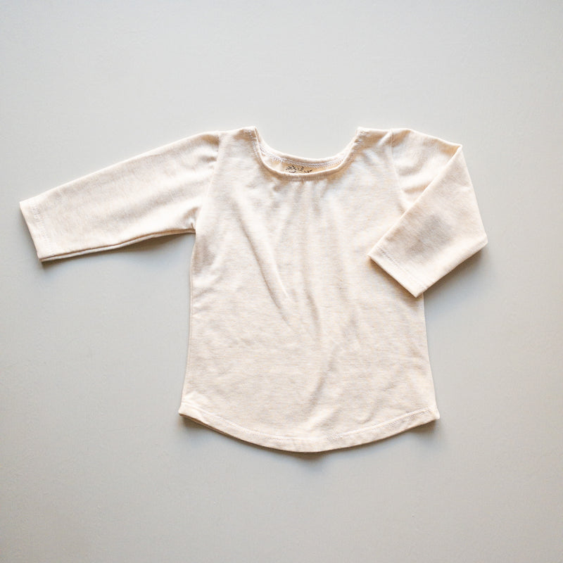 Molly Ballet Shirt in 'Oatmeal' - Ready To Ship