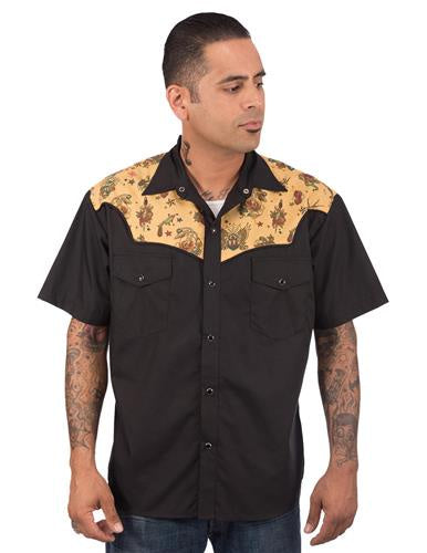Tattoo Flash Men's Western Shirt