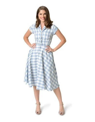 Light Blue Gingham Alexis Shirtdress