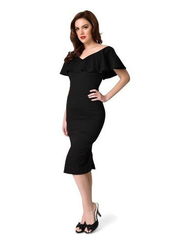 Sophia Black Wiggle Dress
