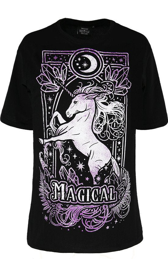 Magical Unicorn Oversized Women's T-Shirt