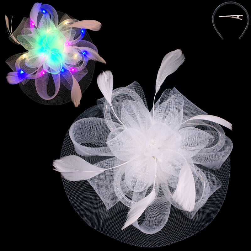 Feather Flower Light-Up Fascinator