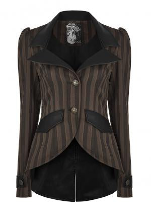 Corporate Steampunk Pinstriped Blazer