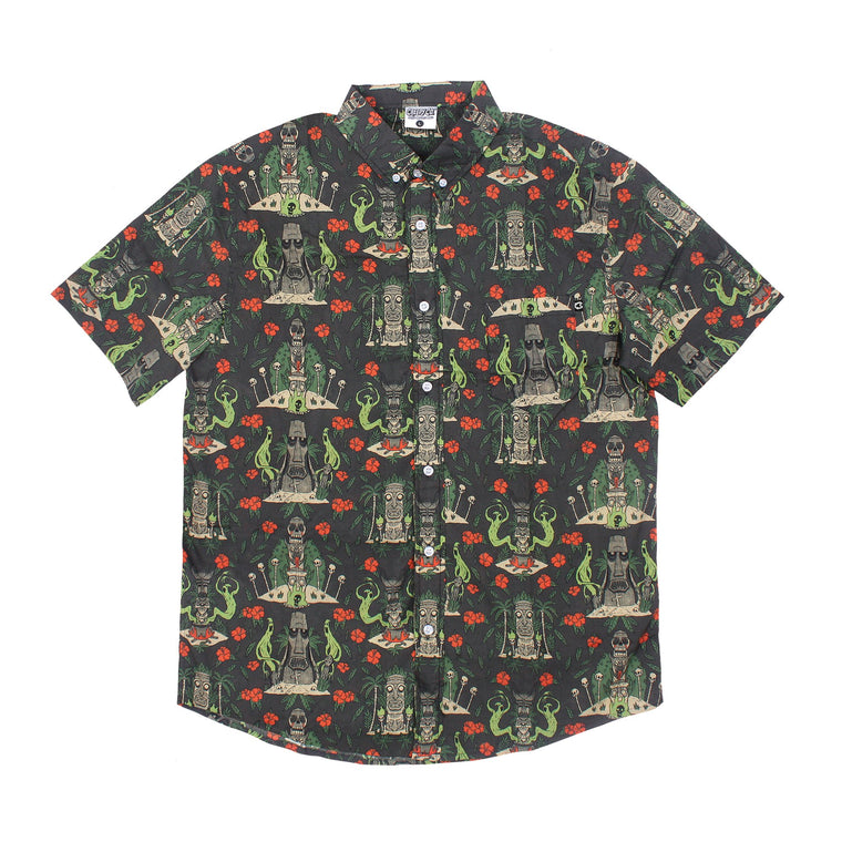 Spooky Tiki Unisex Button-Up