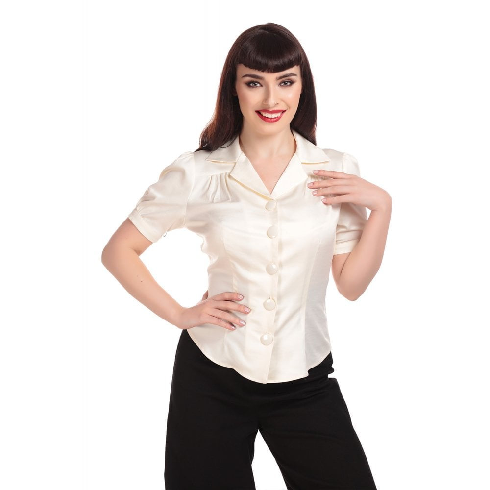 Luana 40's Blouse in Ivory