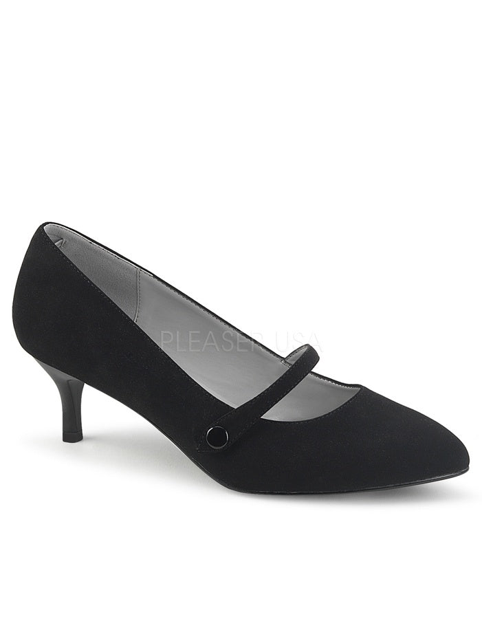 Kitten Heel Black Pump