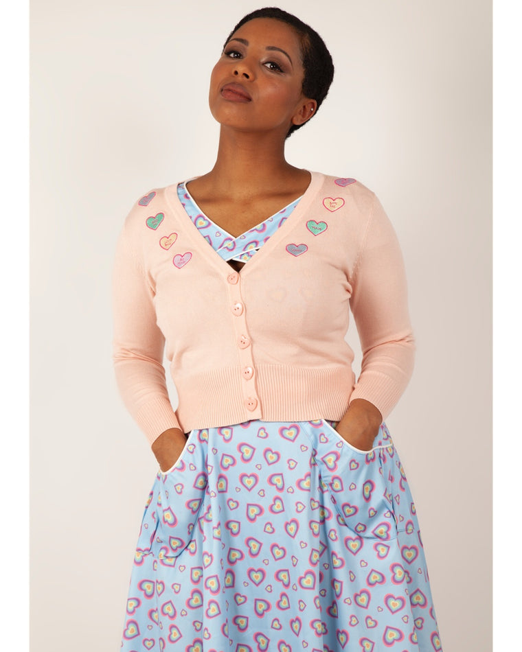 Conversation Hearts Cardigan