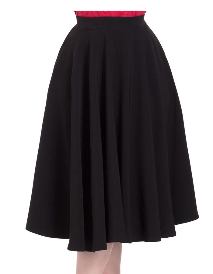 Sandy Full Circle Skirt in Black