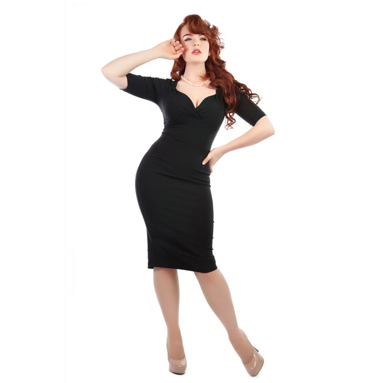Trixie Wiggle Dress in Black