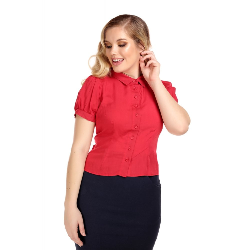 Piper Blouse in Poppy Red