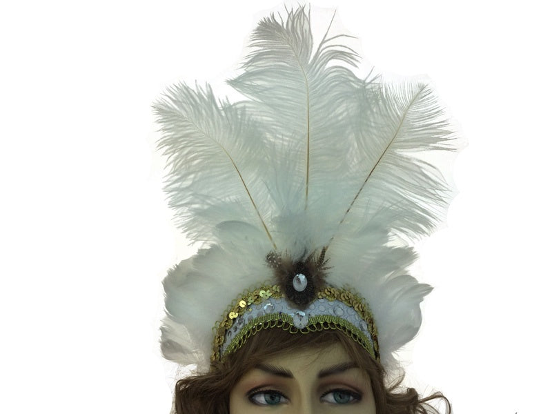 Burlesque Feather Headband