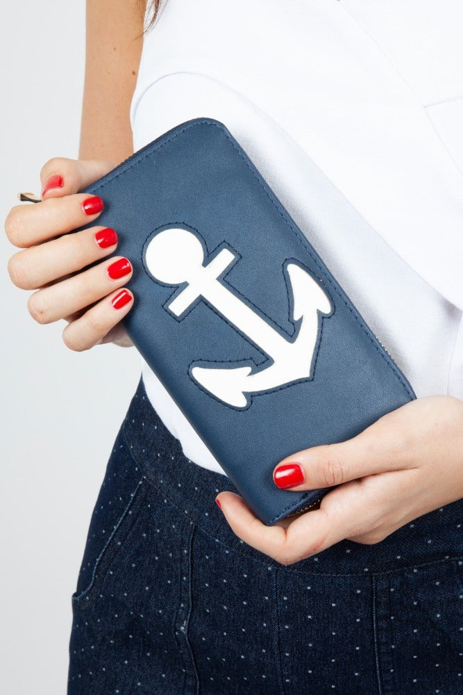 Anchored Navy Purse