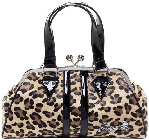 Temptress Tan Leopard Purse