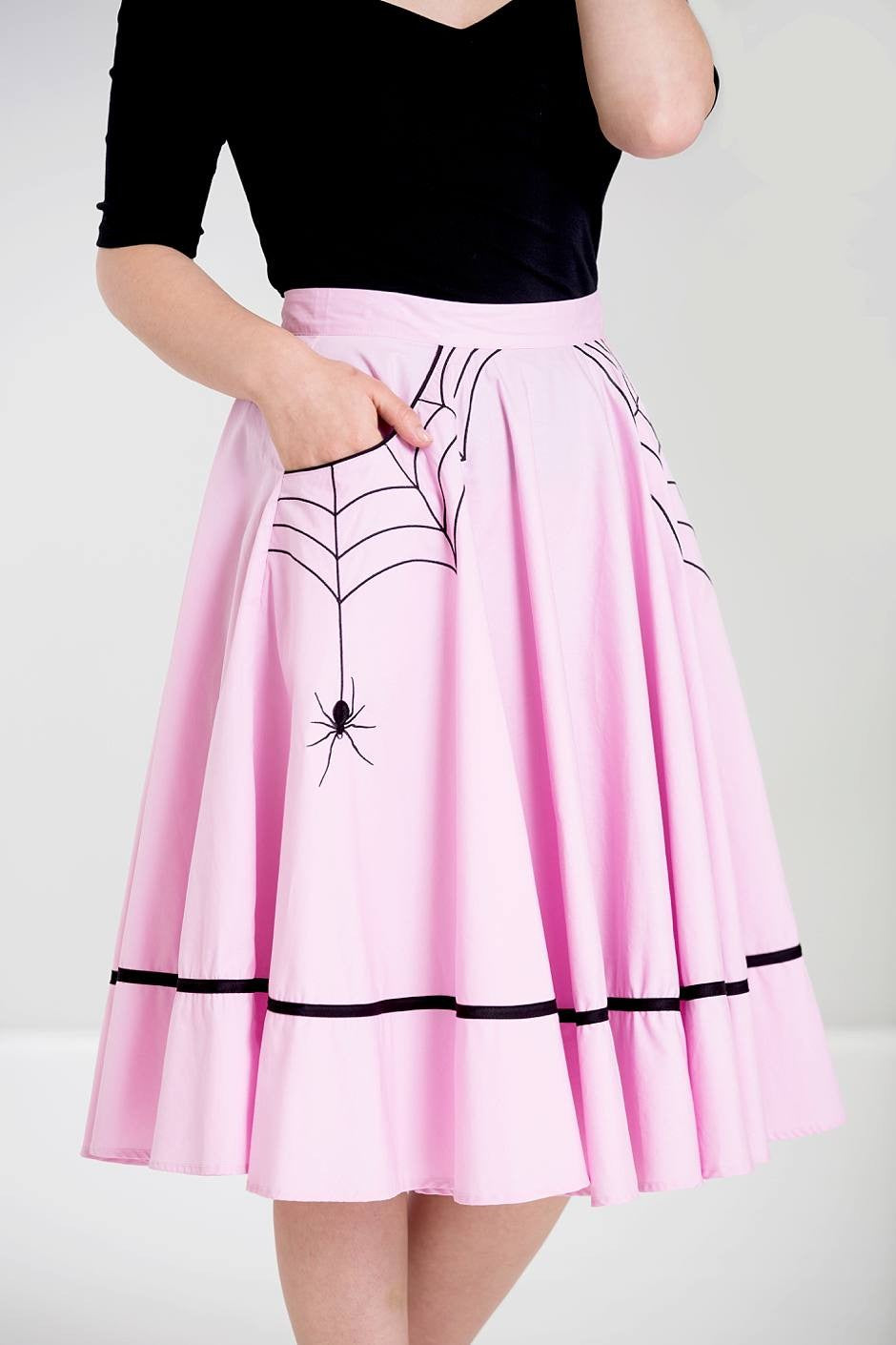 Miss Muffet Spider Skirt in Pink
