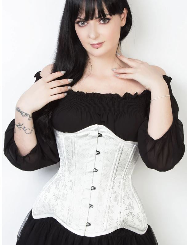 Verdessa Corset in White Brocade