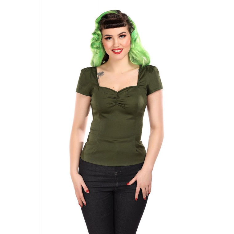 Mimi Top in Olive