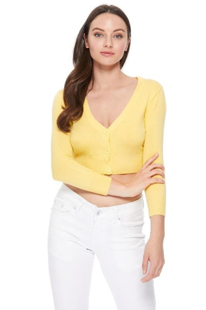Marianne's Bolero Cardigan in Yellows