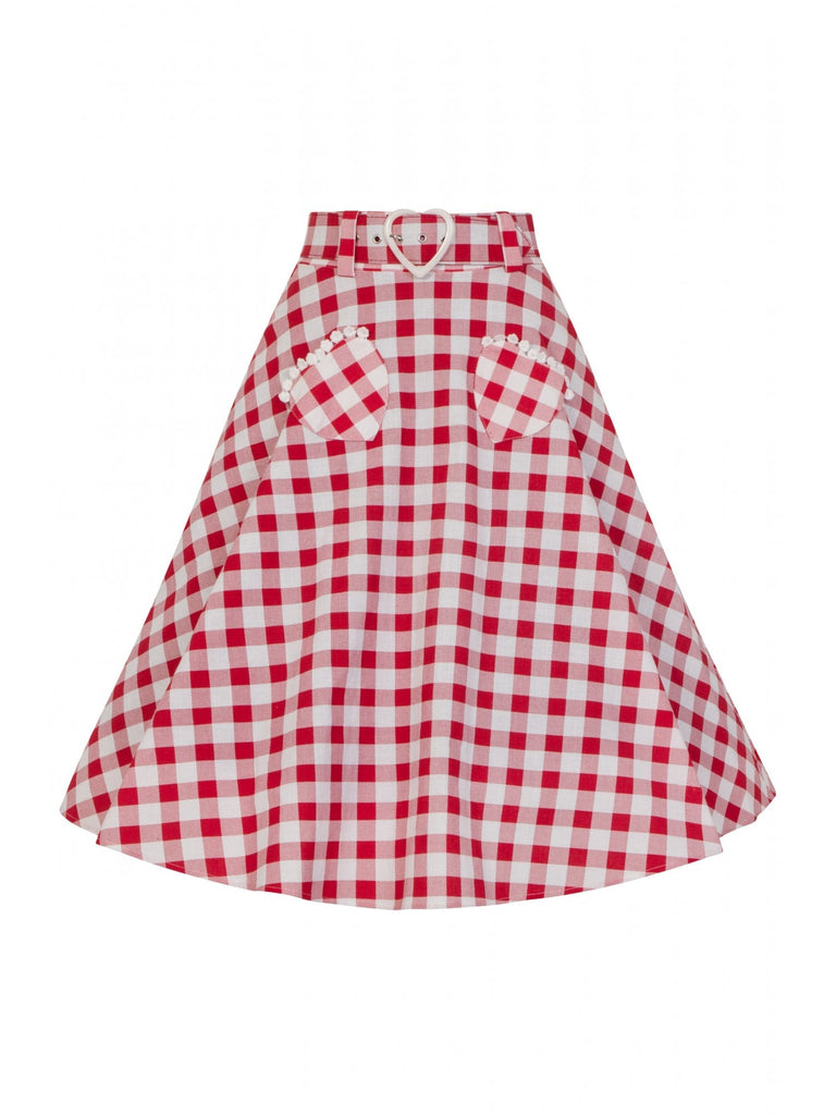 Picnic Sweetheart Gingham Skirt