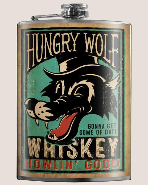 Hungry Wolf Flask