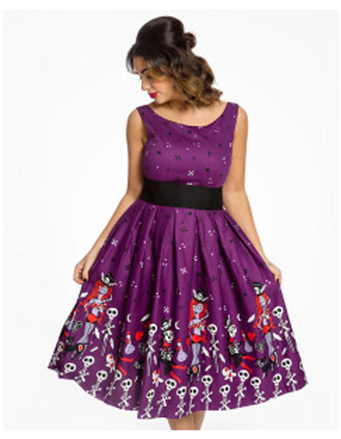 Purple Witch Doctor Swing Dress
