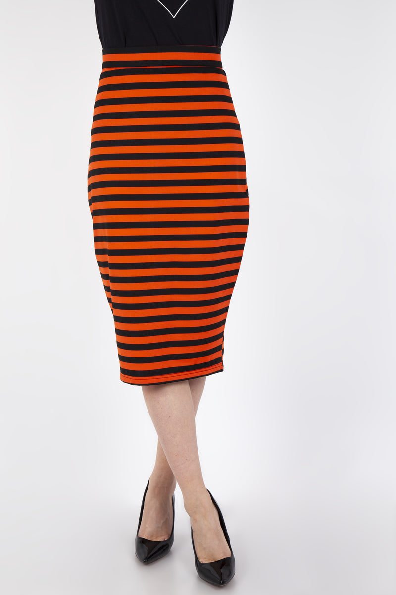Pencil Skirt in Spook Stripes
