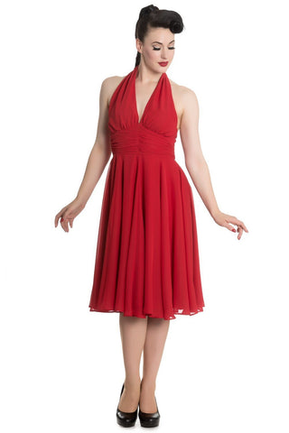 Red Monroe Halter Dress