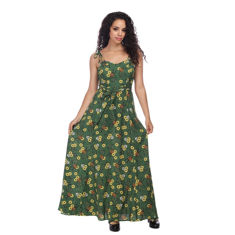 Pineapple Princess Maxi Dress