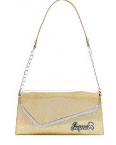 Sourpuss Retro Glitter Purse-Gold