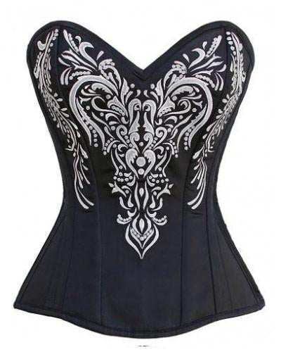 Madame Leota Embroidered Overbust Corset