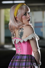 Pretty in Pink Lolita Overbust Corset