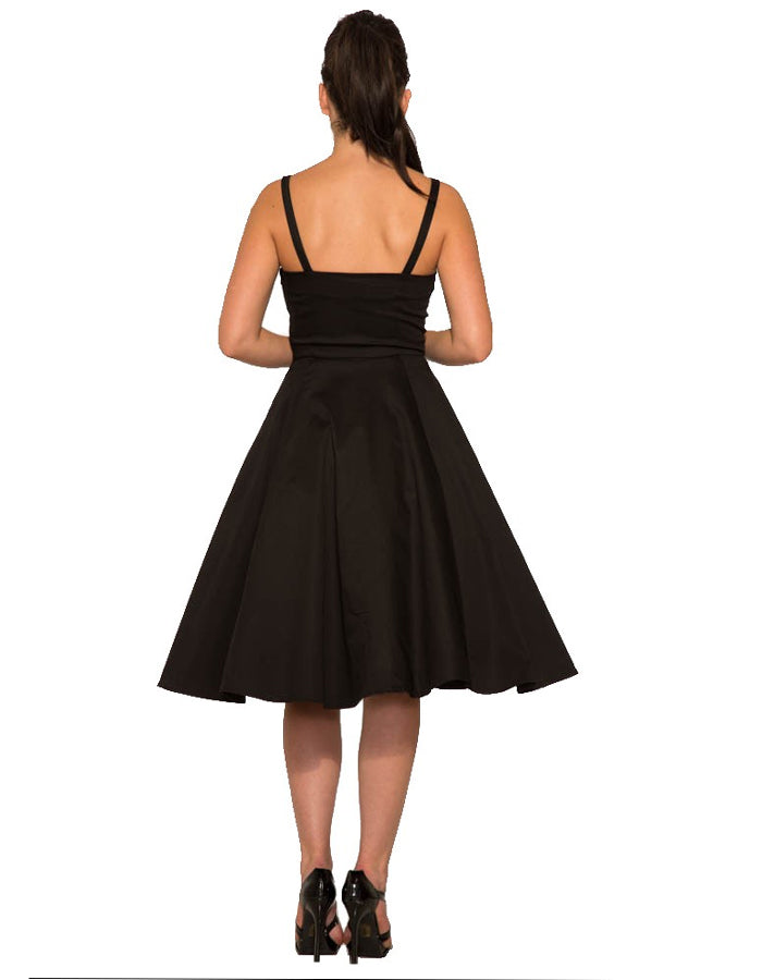 Rhiannon Little Black Swing Dress