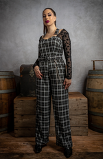 True Bloom Plaid Overall Jumpsuit