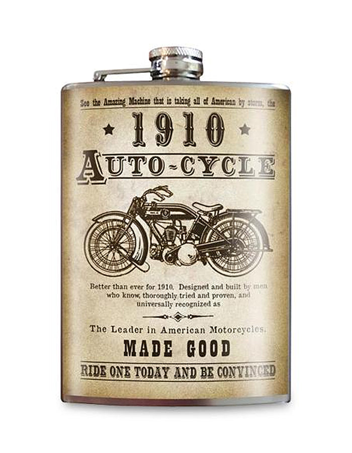 Auto-Cycle 1910 Flask