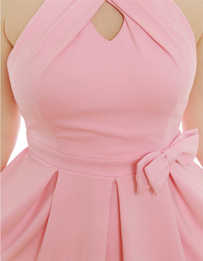 Marie's Pink Bow Dress
