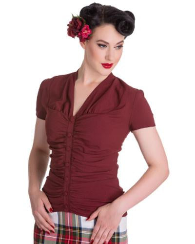 Rosline Burgundy Top