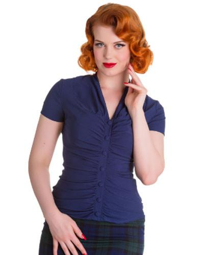 Rosline Navy Top