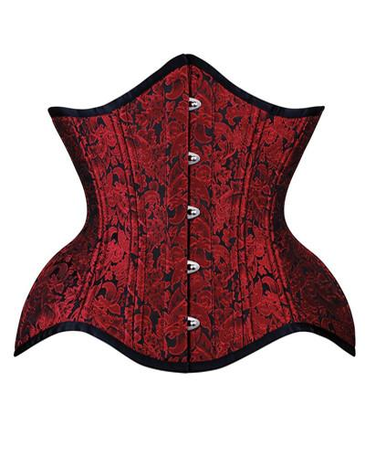 Red Brocade Versailles Corset