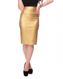 Polly Gold Wiggle Skirt