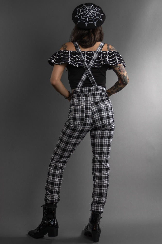 Checked Out Suspender Pants
