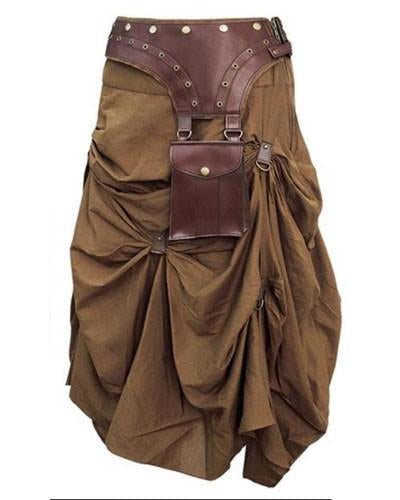 Traveler Brown Steampunk Pickup Skirt