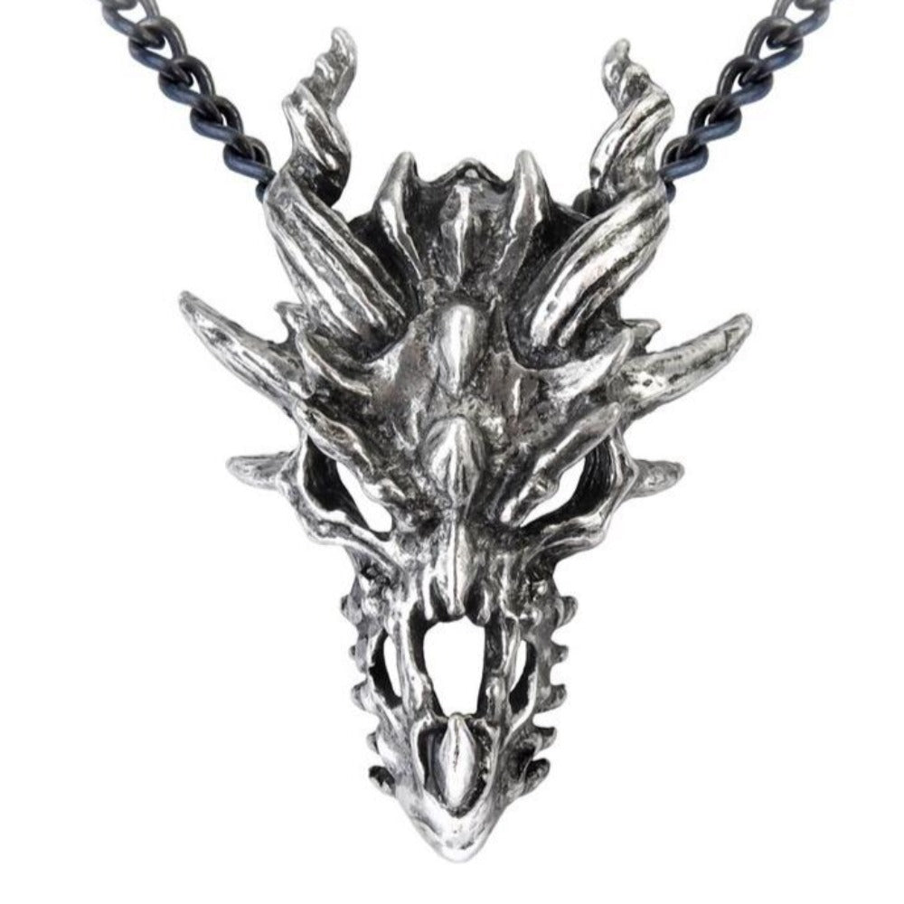 Alchemy of England Dragon Skull Pendant Neckalce